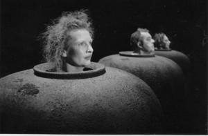 Sculpteur de théâtre jarre réalisé pour Comédie de Beckett