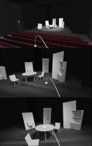 menu pour le vrtoolsAframe de la réalité virtuelle